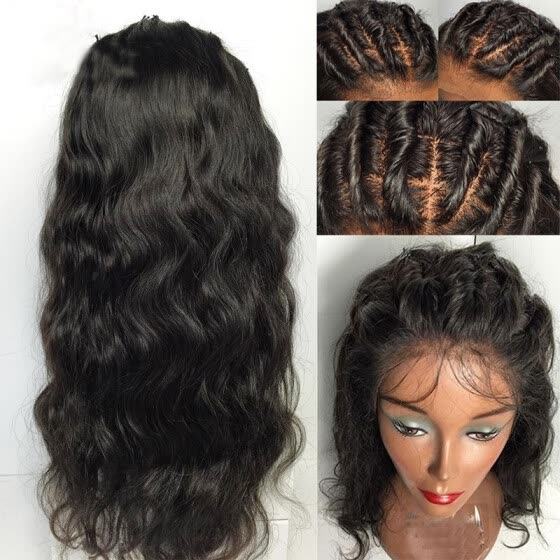 c74966b57 Glueless Wet Wavy Cheap Lace Front Human Hair Wig For Black Women Brazilian  Human Hair Wavy