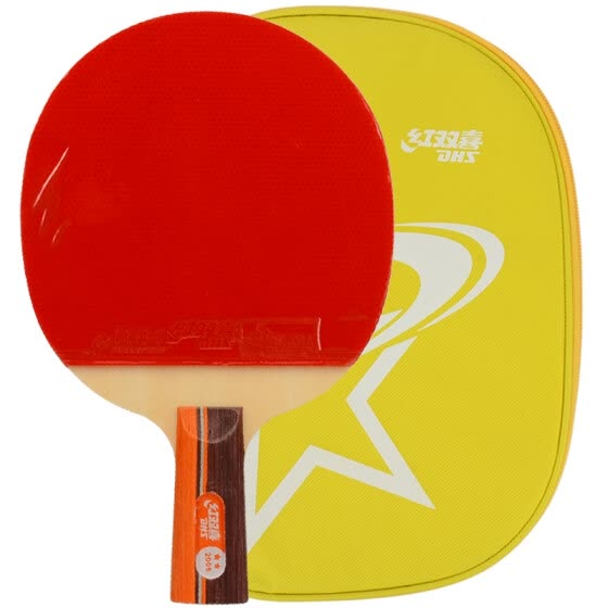 Double Happiness DHS 2 star double-sided anti-fat table tennis straight shot arc combined fast-break table tennis racket A2006 single shot film sets