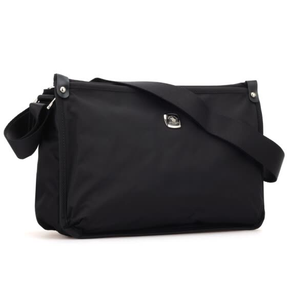 St. Paul's men's casual shoulder Messenger bag male black canvas bag male bag IPAD bag