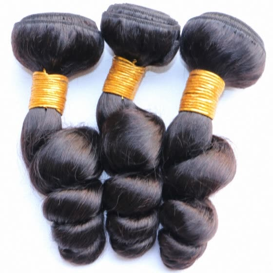 Brazilian Loose Wave Virgin Hair Weave Bundles Cheap Unprocessed 100% Virgin Brazilian Human Hair Extensions Loose Curly Natural