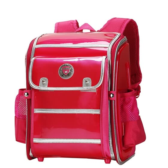 【Jingdong Supermarket】 Cara sheep (Carany) iron frame baby child school bag primary school student bag burden male and female students Japanese and Korean wind shoulder bag CX2641 rose red