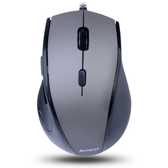 Shuangfeiyan (A4TECH) N-740X wired mouse office mouse USB mouse notebook mouse iron gray leather
