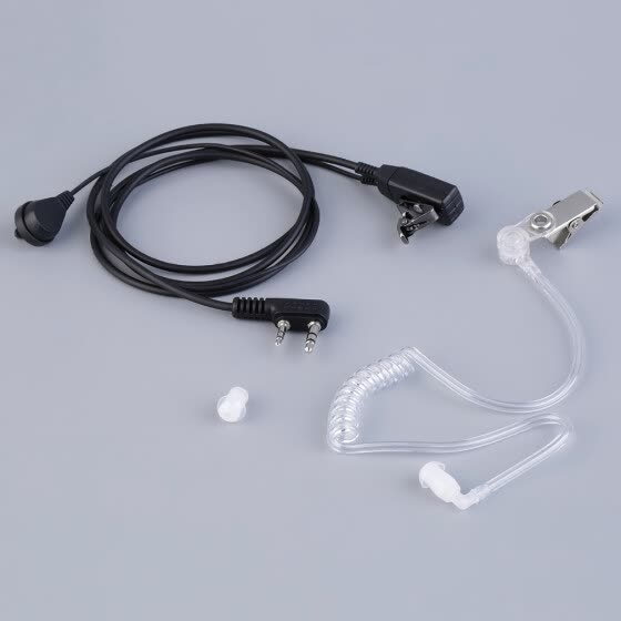 2 Pin PTT Air Tube Earphone Headset for Baofen Walkie Talkie Two Way Radio