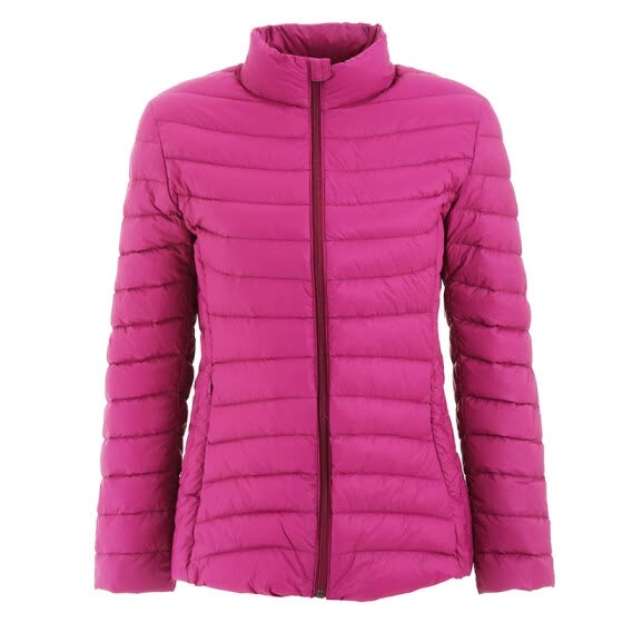 INTERIGHT 90 white duck down light portable ladies down jacket rose red XL code