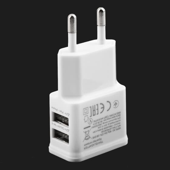 5V 2A Dual USB Port EU Plug AC Wall Charger Adapter For Cellphone Tablet