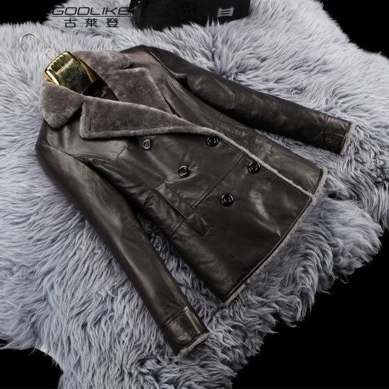 lady genuine leather short jacket 100% real sheep leather coat women sheepskin winter clothing