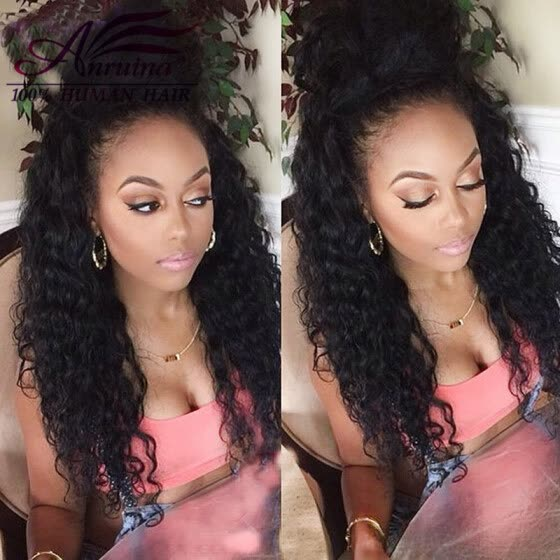 pre plucked 360 frontal with bundles brazilian deep wave with closure lace closure with bundles 3 bundles with frontal closure