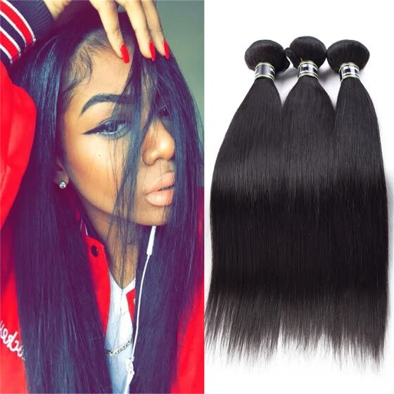 Amazing Star Straight Hair Bundles Peruvian Virgin Straight Hair 3 Bundles Virgin Human Hair Weave Can Be Dyed and Bleached