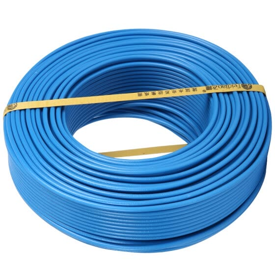 Feidiao (feidiao) wire and cable BVR2.5 square national standard household copper wire single-core multi-strand cord 50 meters blue zero line