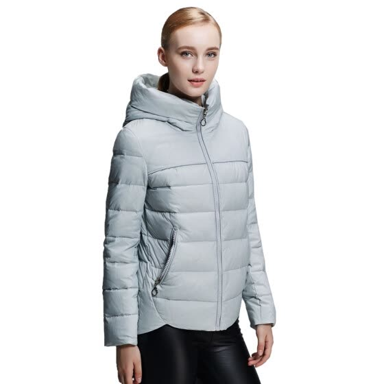 Pierre cardin 23C3029 female hooded casual short down jacket gray gray L (170)