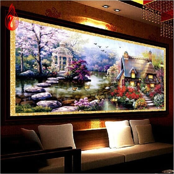 YGS-32 DIY 5D Diamond Mosaic Landscapes Garden lodge Full Diamond Painting Cross Stitch Kits Diamonds Embroidery Home Decoration