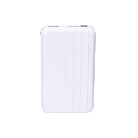 Portable Charger 13000mAh Power Bank USB Battery Pack 2.0 USB Ports Li-polymer Battery External Battery For Smartphones White