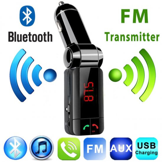 Bluetooth Hands-free LCD Car FM Transmitter MP3 Player Radio Adapter Kit Charger