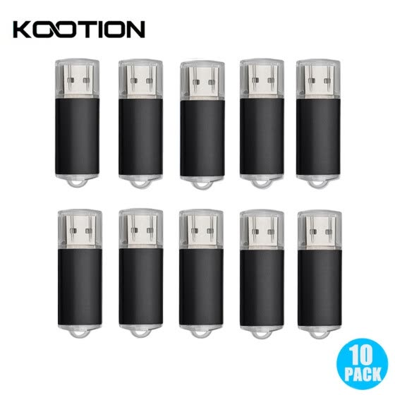 10 Packs USB Flash Drive 2.0 Pen Drive 1GB 2GB 4GB 8GB 16GB Black