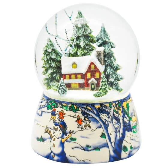 Memories Garden Christmas Tree Gifts Creative Gifts Toys Boxes Boxes LED Snowflakes Inside Turns Snow Snowy Shelves Crystal Ball Music Boxes Y8066BSL Sky City