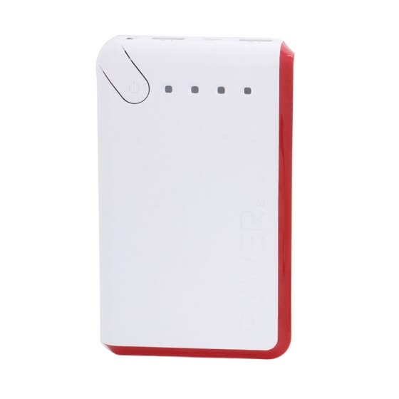 Portable Charger 20000mAh Power Bank USB Battery Pack 2.0 USB Ports Li-polymer Battery External Battery For Smartphones Red