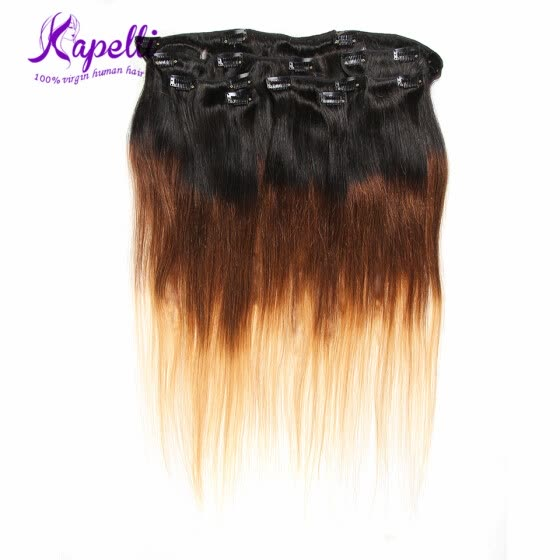 Pre-bonded Brazilian Virgin Hair Clip in Extensions Human Hair Fusion Hair Clip in Weft Big Sale Human Hair Clip in Extensions