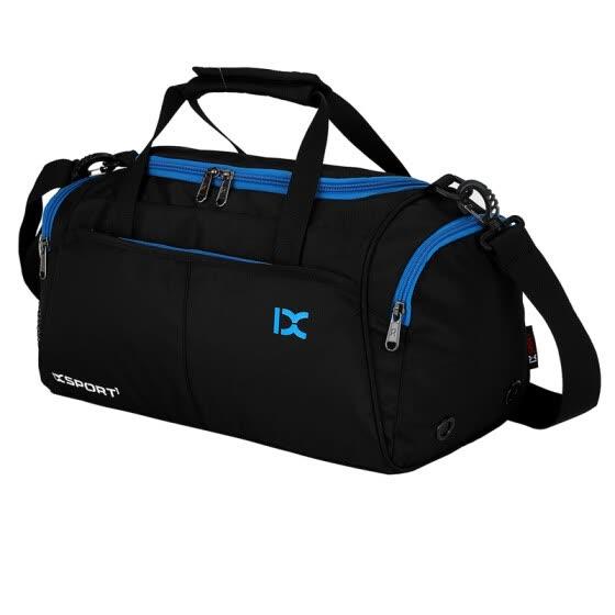 [Jingdong Supermarket] IX Fitness Bag Dry and Wet Separation Pack Sports Shoulder Bag Large Capacity Short-distance Travel Cylindrical Travel Bag Black 8037