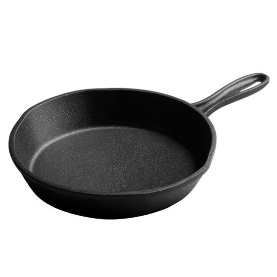 【Jingdong Supermarket】 Cooking Big Emperor Pan pot 18cm frying pan no coating thickened cast iron pot pig iron pan fry pan fried steak row grinder Induction Cooker gas gas stove fire fire general use J18ATQ17