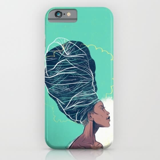 iPhone 6s Slim silicone design Case protective shockproof  Erykah Badu custom iphone 6s case