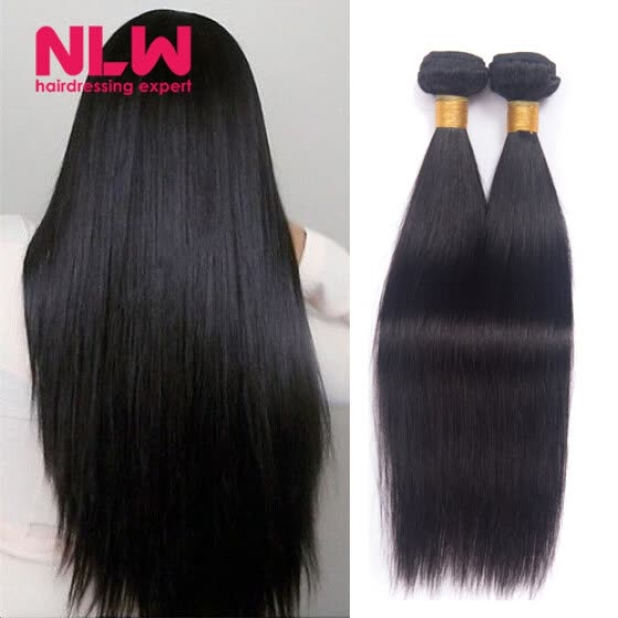 Bouncy Top Quality N.L.W. Products Brazilian Virgin Hair Straight 4 Bundles 8A Unprocessed Free Shipping Full and Thick