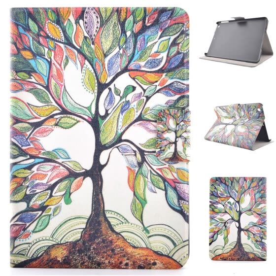 Colorful Tree Style Classic Flip Cover with Stand Function and Credit Card Slot for iPad  Mini 1/2/3