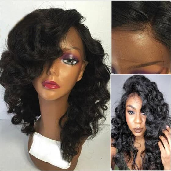 130% Density Wavy Lace Front Human Hair Wigs For Black Women Brazilian Hair  lace front 2feee55247