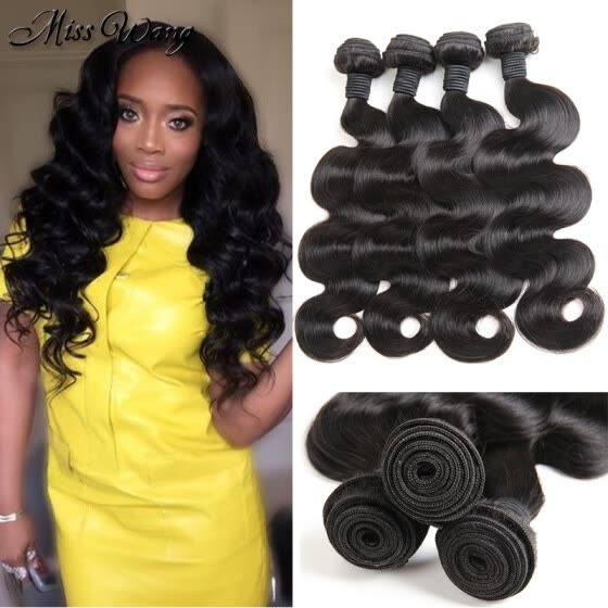 Cheap Brazilian Body Wave 4 Bundles Unprocessed Hair Bundles Museladybeauty Natural Hair Weaves Thick Bundles Human Hair