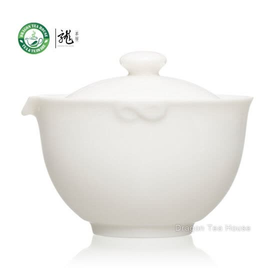 High Quality Fine Pure White Jade Porcelain China Gongfu Tea Cup Gaiwan 155ml