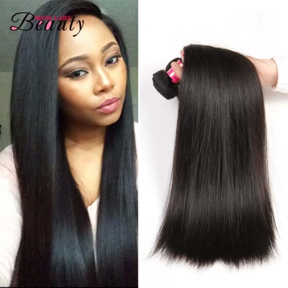 Muse Lady Beauty Brazilian Straight Virgin Human Hair Weaves Top Quality Can be Dyed and Bleached Hair Extension 4 Bundles Lot