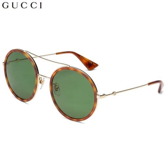 b15504c9be GUCCI Gucci gafas de sol para mujer gafas de sol retro redondas con montura  de metal