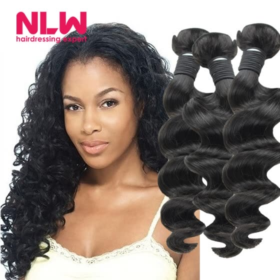 Malaysian Loose Wave Natural Virgin Hair Full 8A Unprocessed Free Shipping NLW Products Top Sale 3 bundles for Black Girl Cheap