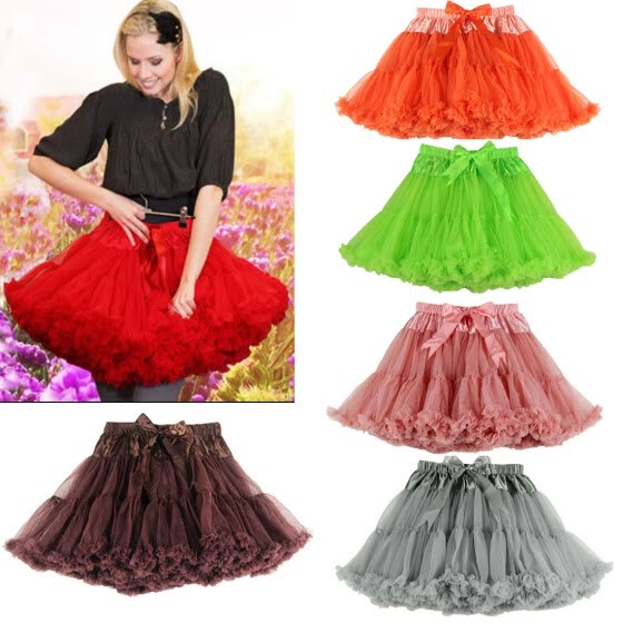 1b620cc69 Shop Buenos Ninos Women Tutu Skirt Double Layer Midi Pettiskirt ...