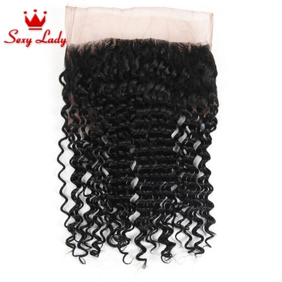 Pre Plucked 360 Lace Virgin Hair Kinky Curly 7A Malaysian Human Hair Bleached Knots 360 Lace Frontal Band With Adjustable Straps