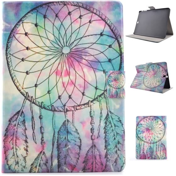 Pink Dreamcatcher Style Classic Flip Cover with Stand Function and Credit Card Slot for Samsung Galaxy Tab S2 T715C