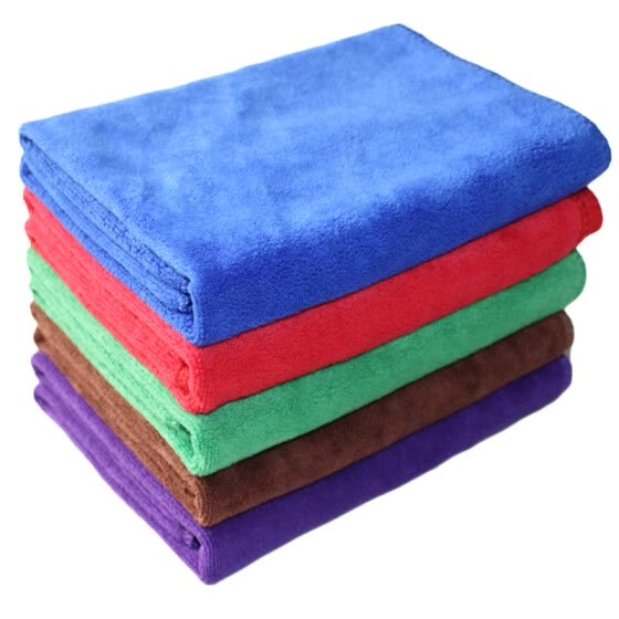 Car kiss 5 pieces of fine fiber towel towel (thick type 60CM * 40CM) red / green / blue / coffee color / purple