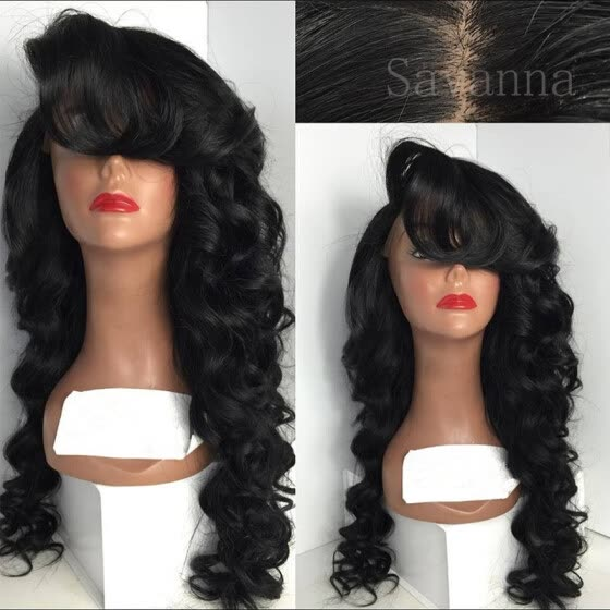 Body Wave Full Lace Human Hair Wigs For Black Women Brazilian Virgin Hair Lace Front Wig Natural Color Human Hair Wig With Baby Ha