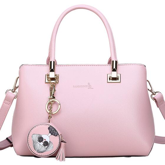 Female Cool Lightpink Fashion Handbag New BAG Female Style Atmospheric Handbag Shoulder Messenger