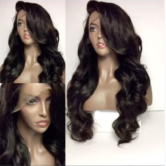 New Brazilian Body Wave 150% Density Full Lace/Lace Front Human Hair Wigs Natural Hairline Remy Hair Wigs With Bangs Free Shipping
