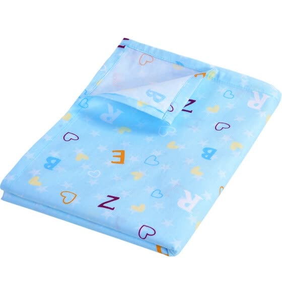 Like baby (elepbaby) baby cotton sheets kindergarten children's bed crib bed sheets 140 * 90cm (letters bean green)