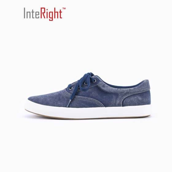 INTERTER Men 's lace Korean fashion sports shoes M003 Navy blue 42