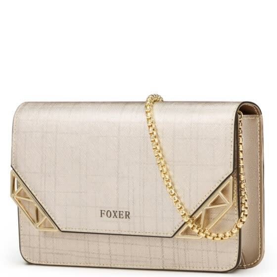 03925929a242 Gold fox (FOXER) handbags new geometric lattice pattern chain package  fashion wild shoulder small