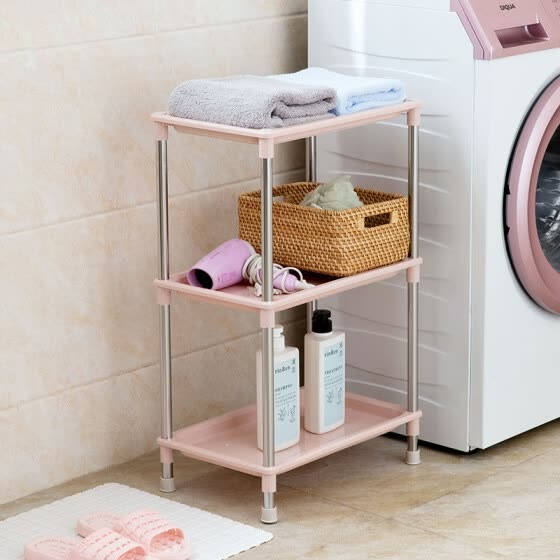 【Jingdong Supermarket】 Shengyi Shang Shang bathroom bathroom floor racks bathroom kitchen multi-storey shelves angle frame three