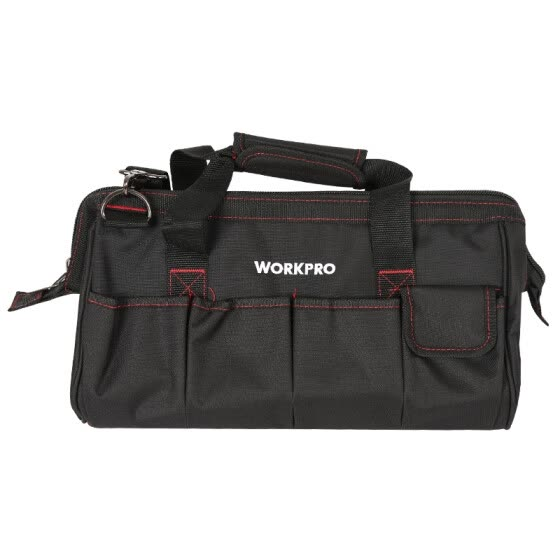 WANPRO (WORKPRO) W081033N thick wear-resistant multi-function electrician repair kit large shoulder hardware Oxford cloth tool bag 16 inches