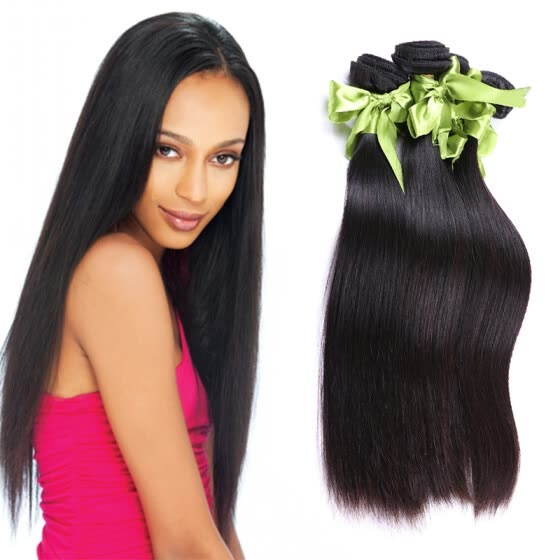 7A Peruvian Virgin Hair Straight 4 Bundles Peruvian Straight Virgin Hair Bundle Deals Unprocessed Human Hair Weave Bundles