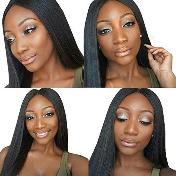 Natural Straight Brazilian Hair Glueless Human Hair Full Lace Wig With Baby Hair