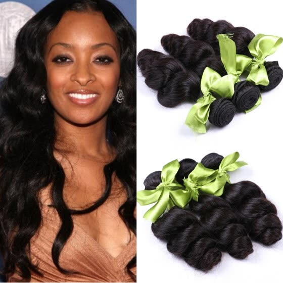 Top Malaysian Virgin Hair Loose Wave 7A Unprocessed Malaysian Hair 3 Bundles Wavy Queen Human Hair Weave Malaysian Loose Wave