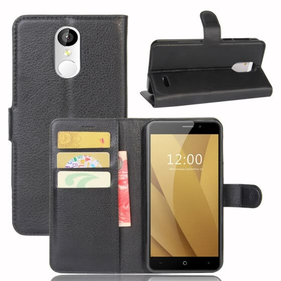 GANGXUN LEAGOO M5 Plus Case PU Leather Magnetic Flip Wallet Card Cover for LEAGOO M5 Plus