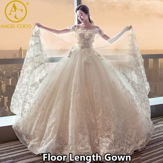Designer 2017 Luxury Saudi Arabia Wedding Dress long Tail Ball Floor Length  See through Back Bridal e60bff187825