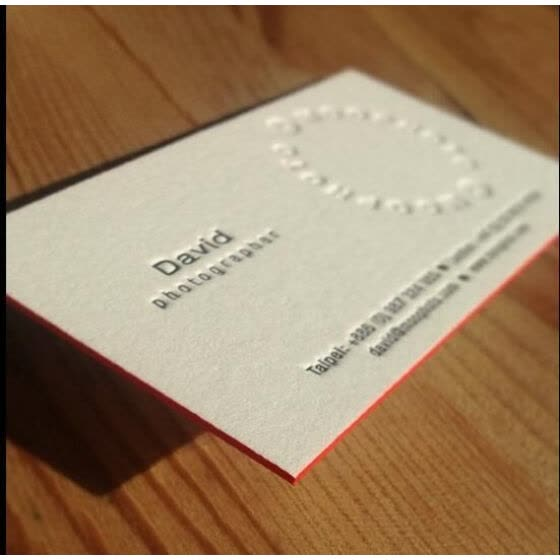 Shop White Color Edge Letterpress Business Cards Online From Best
